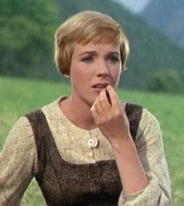 "Dame Julie Andrews in her version of ""Sound of Music"""