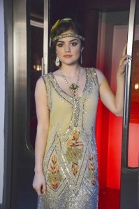 Aria/Lucy Hale as a 1920s flapper