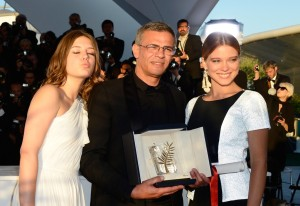 Actresses Adele Exarchopoulos and Lea Seydoux and Director Abdellatif Kechiche at the 66th Cannes Film Festival