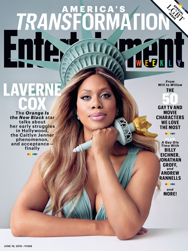 http://www.eonline.com/news/665662/laverne-cox-covers-ew-and-talks-caitlyn-jenner-i-m-so-grateful-that-i-had-the-luxury-of-transitioning-in-private